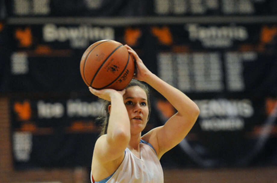 Bethlehem High School girl's basketball senior point guard Bridget Murphy on Thursday Feb. 21, 2013 in Bethlehem, N.Y. . Photo: Michael P. Farrell