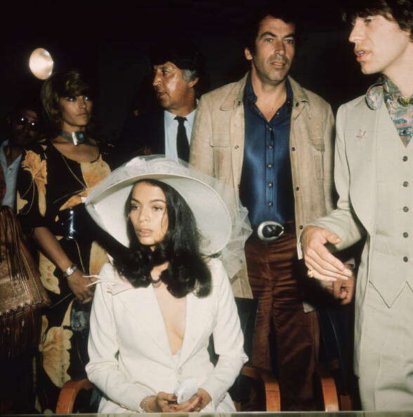 1971:  Mick Jagger and his new wife Bianca.
