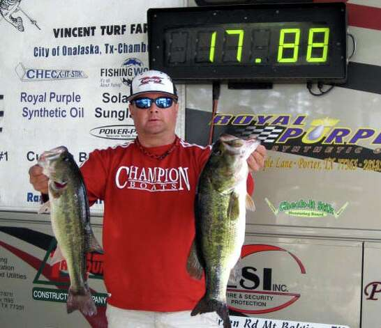 Jason Burton had the winning sack of fish that weighed 17.88 lbs.
