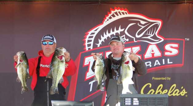 3rd place winners Jarrod Dean and Jason Burton had a nice sack weighing 25.37 lbs, winning $4,840 for their day  Photo by Patty Lenderman, Lakecaster