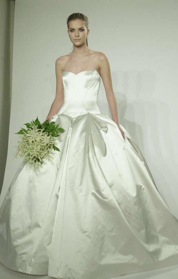 2001:A Vera Wang wedding dress  Photo: LOUIS LANZANO, AP/Getty / AP