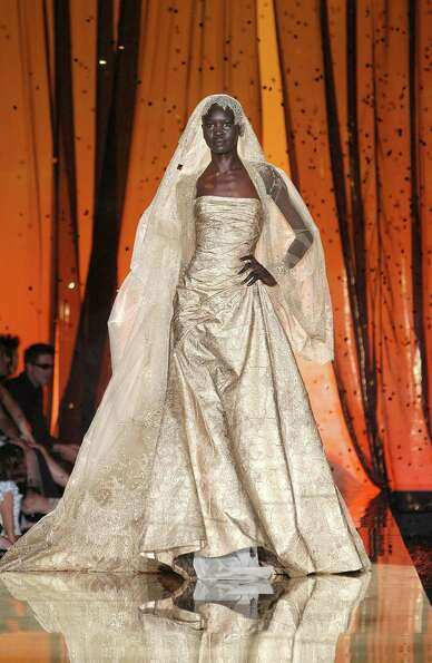 2003: A design from Elie Saab during his haute-couture presentation