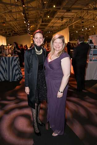Judy Jorgensen and Jennifer Johnston at the Junior League Fashion on March 1, 2013. Photo: Drew Altizer Photography
