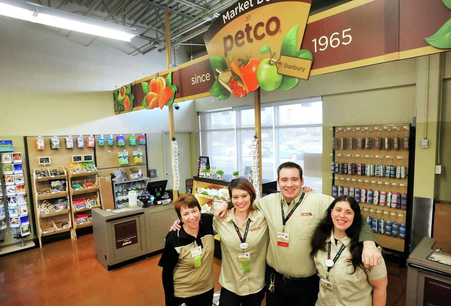 Left to right in Danbury's new Petco are Patty Garron, Jill Gorman, Paul Pernek and Jennifer Serpico. In Danbury, Conn. Monday, March 4, 2013. Photo: Michael Duffy / The News-Times