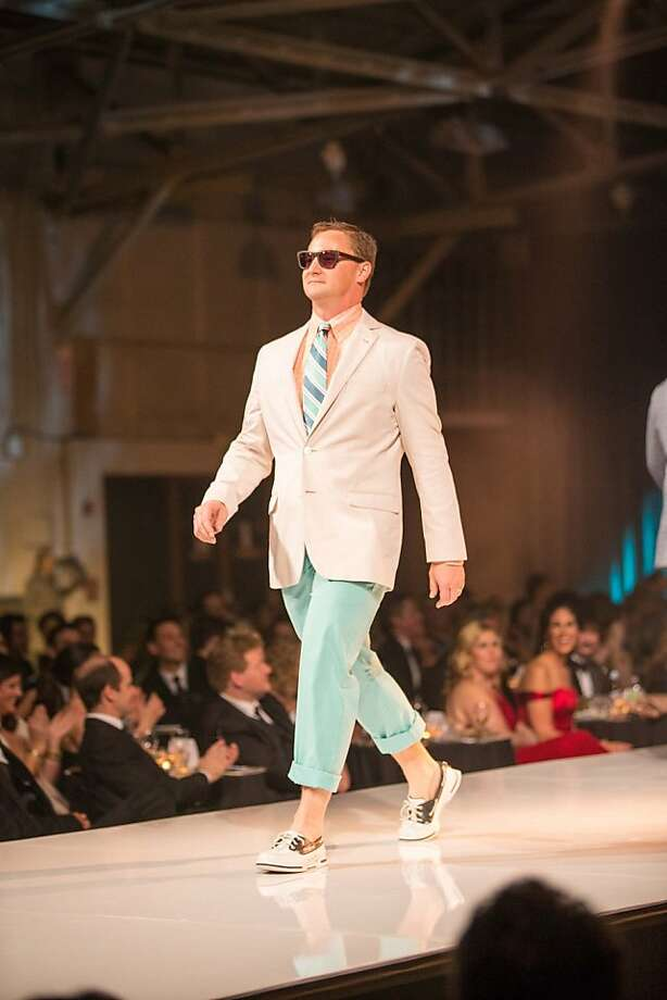 A model walks the runway at the Junior League Fashion Show on March 1, 2013. Photo: Drew Altizer Photography