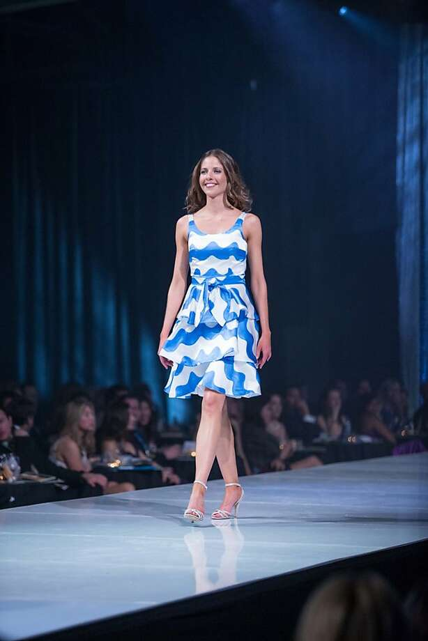A model walks the runway at the Junior League Fashion Show on March 1, 2013. The annual show is modeled by JLSF members. Photo: Drew Altizer Photography