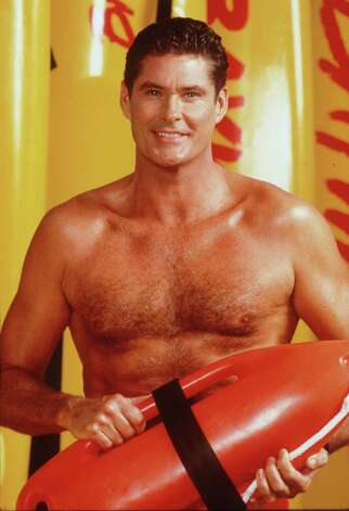 David Hasselhoff as heroic lifeguard Lt. Mitch Buchannon.  Photo: Getty Images / Getty Images
