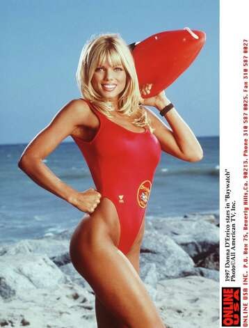 Several Playboy playmates graced the Baywatch cast, including Donna D'Errico, who joined the show in its seventh season.  Photo: All American TV, Inc./Handout / Getty Images