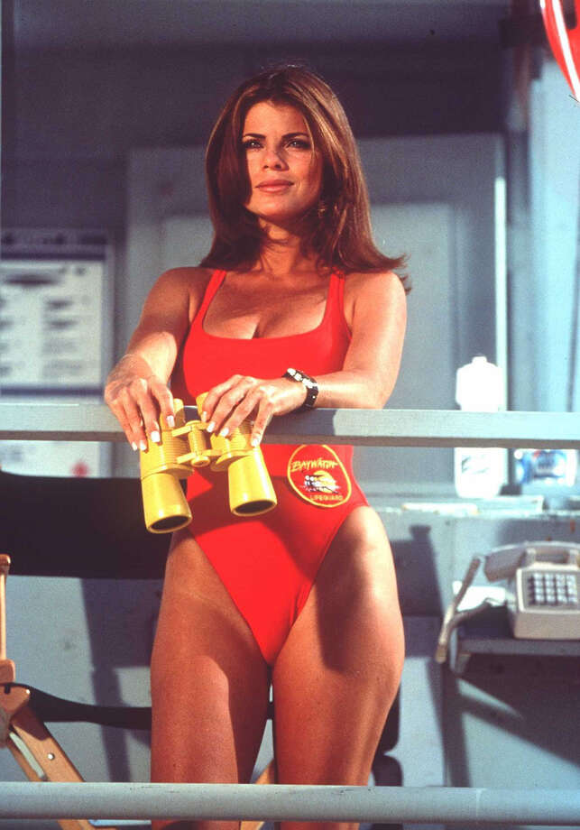 "Yasmine Bleeth, one of People Magazine's ""Most Beautiful People"" in 1995, played lifeguard Caroline Holden from 1994-97.  Photo: Getty Images / Getty Images"