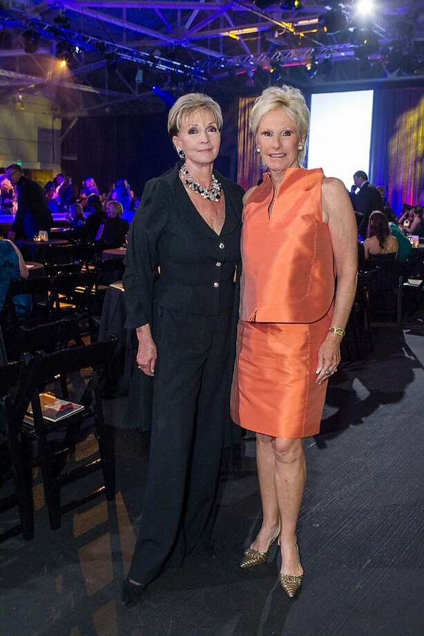 Sallie Huntting and Carolyn Hansen at the Junior League Fashion Show on March 1, 2013. Photo: Drew Altizer Photography