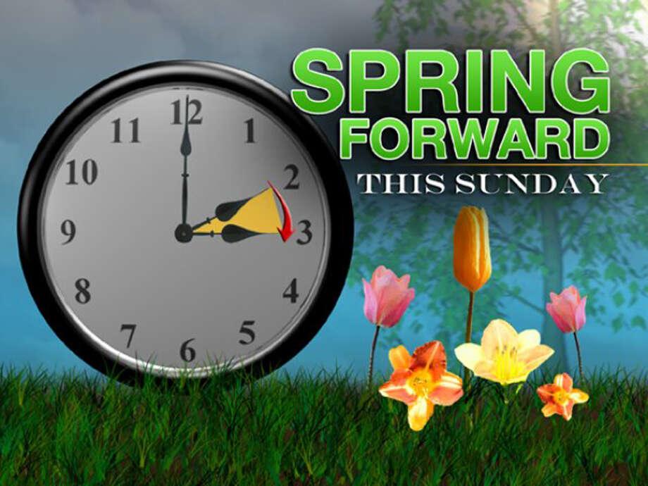 Spring ahead this Sunday. Photo: Courtesy Photo