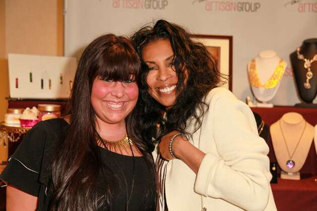 Actress Khandi Alexander with Stevie D'Andrea, co-owner of Jewels for Hope, at the Oscar's Gift Lounge  at The Sofitel Los Angeles last month.