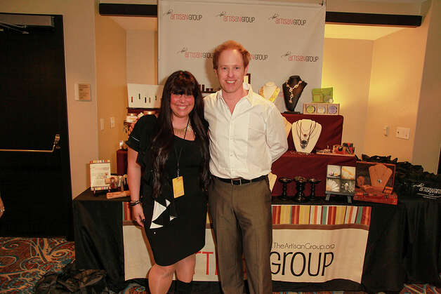 Actor Raphael Sbarge with Stevie D'Andrea, co-owner of Jewels for Hope, at the Oscar's Gift Lounge  at The Sofitel Los Angeles last month.