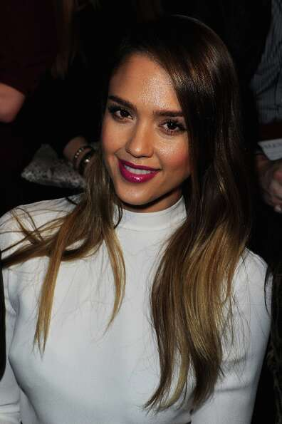 Jessica Alba attends the Valentino Fall/Winter 2013 Ready-to-Wear show as part of Paris Fashion Week