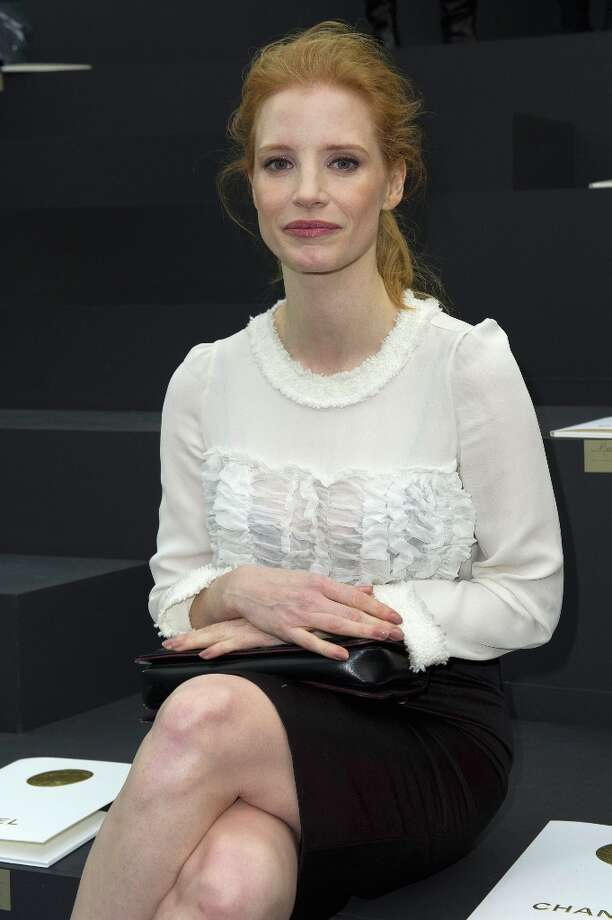 Jessica Chastain attends the Chanel Fall/Winter 2013/14 Ready-to-Wear show as part of Paris Fashion Week at Grand Palais on March 5, 2013 in Paris, France. Photo: Kristy Sparow, Getty Images / 2013 Kristy Sparow