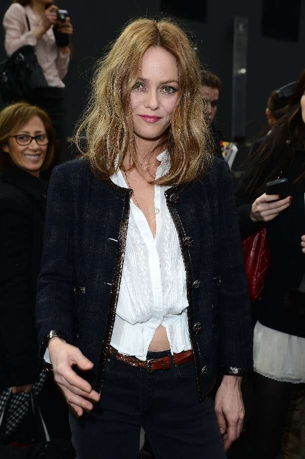 Vanessa Paradis attends the Chanel Fall/Winter 2013 Ready-to-Wear show as part of Paris Fashion Week at Grand Palais on March 5, 2013 in Paris, France. Photo: Venturelli, WireImage / 2013 Venturelli