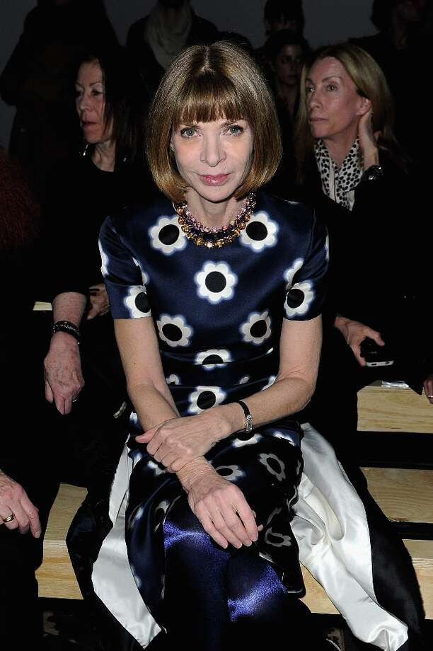 Anna Wintour attends the Saint Laurent Fall/Winter 2013 Ready-to-Wear show as part of Paris Fashion Week on March 4, 2013 in Paris, France. Photo: Pascal Le Segretain, Getty Images / 2013 Getty Images