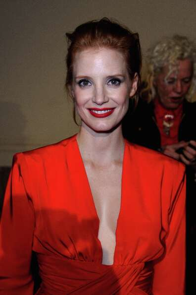 Jessica Chastain attends the Saint Laurent Fall/Winter 2013 Ready-to-Wear show as part of Paris Fash