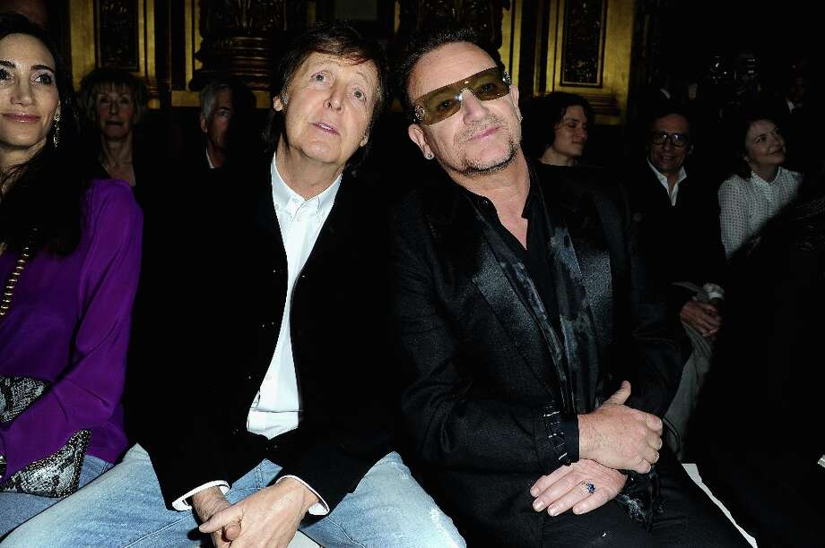 Paul McCartney and Bono attend the Stella McCartney Fall/Winter 2013 Ready-to-Wear show as part of Paris Fashion Week on March 4, 2013 in Paris, France. Photo: Pascal Le Segretain, Getty Images / 2013 Getty Images