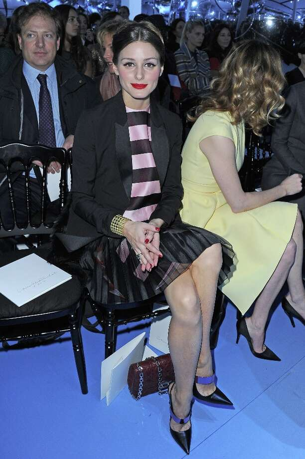 Olivia Palermo attends the Christian Dior Fall/Winter 2013 Ready-to-Wear show as part of Paris Fashion Week on March 1, 2013 in Paris, France. Photo: Pascal Le Segretain, Getty Images / 2013 Getty Images