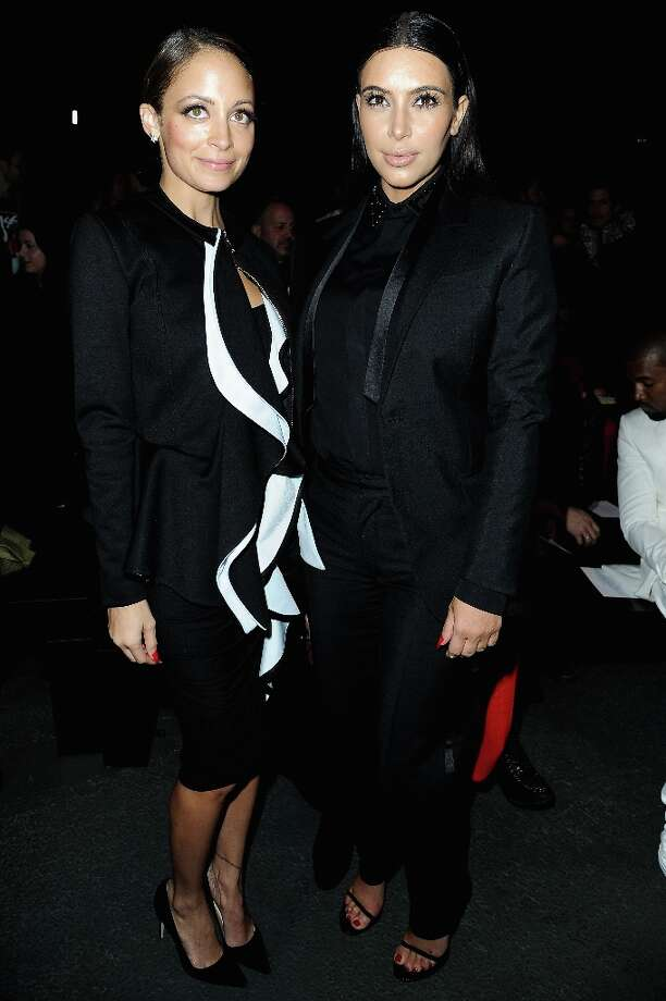 Kim Kardashian and Nicole Richie attend Givenchy  Fall/Winter 2013 Ready-to-Wear show as part of Paris Fashion Week on March 3, 2013 in Paris, France. Photo: Pascal Le Segretain, Getty Images / 2013 Getty Images