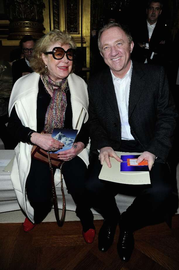 Marianne Faithfull and François-Henri Pinault attend the Stella McCartney  Fall/Winter 2013 Ready-to-Wear show as part of Paris Fashion Week on March 4, 2013 in Paris, France. Photo: Pascal Le Segretain, Getty Images / 2013 Getty Images