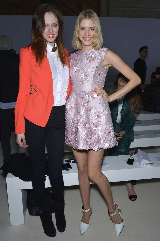 (L-R) Coco Rocha and Elena Perminova attend the Giambattista Valli Fall/Winter 2013 Ready-to-Wear show as part of Paris Fashion Week on March 4, 2013 in Paris, France. Photo: Dominique Charriau, WireImage / 2013 Dominique Charriau