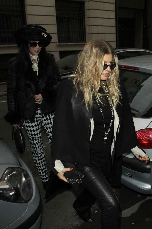 Singers Fergie and Cher are sighted arriving at the 'Rick Owens' store on February 28, 2013 in Paris, France. Photo: Marc Piasecki, WireImage / 2013 Marc Piasecki