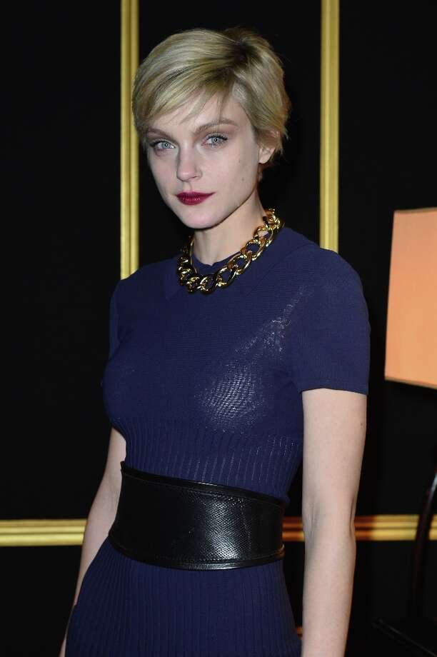 Jessica Stam attends the H&M Fashion Show Fall/Winter 2013 Ready-to-Wear show as part of Paris Fashion Week on February 27, 2013 in Paris, France. Photo: Dominique Charriau, WireImage / 2013 Dominique Charriau