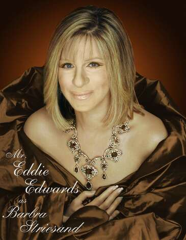"Eddie Edwards portrays Barbra Streisand in ""Celebrities On Stage."" Direct from Las Vegas, the show is coming to The Palace Danbury on Saturday, March 9. Eddie and his twin brother, Anthony, portray everyone from Billy Joel to Cher and Elton John. They sing too; there's no lip-synching. Photo: Contributed Photo"