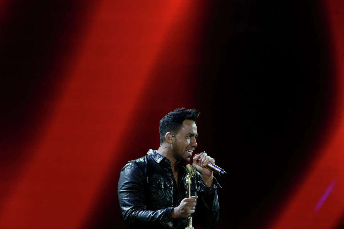 U.S. singer Anthony Romeo Santos performs at the Vina del Mar International Song Festival in Vina del Mar, Chile, Monday, Feb. 25, 2013. Believed to be one of the largest musical events in Latin America, the annual 5-day festival was inaugurated in 1960. (AP Photo/Luis Hidalgo)