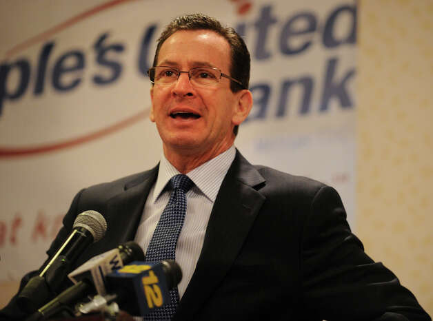 Governor Dannel P. Malloy addresses a Bridgeport Regional Business Council luncheon at the Holiday Inn in Bridgeport, Conn. on Tuesday, March 5, 2013. Photo: Brian A. Pounds / Connecticut Post