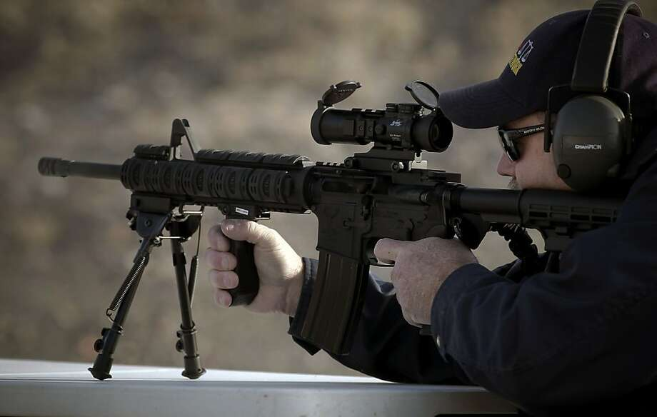 An AR-15 rifle Photo: Michael Macor, The Chronicle