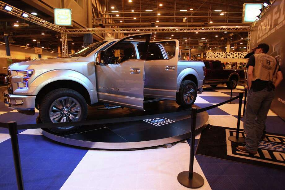 The Atlas, a concept Ford truck, is on display at Reliant Center on Monday, March 4, 2013, in Houston.