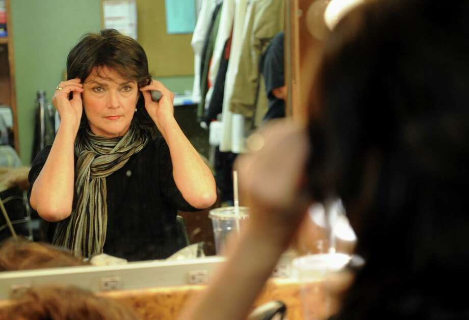 "Mary Westbrook of Sugar Land adjusts her wig for ""The Dixie Swim Club"" at Country Playhouse.    Mary Westbrook of Sugar Land adjusts her wig for ""The Dixie Swim Club"" at Country Playhouse. Photo: Thomas Nguyen, Freelance / Freelance"