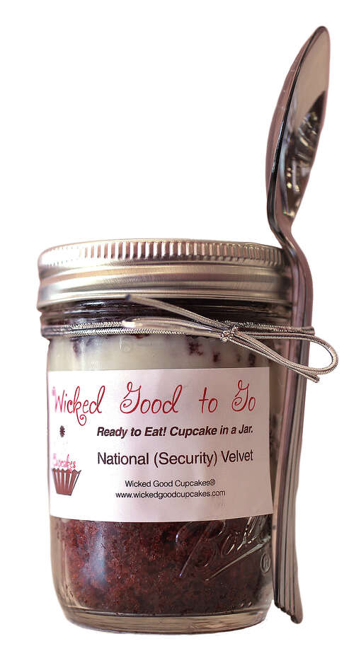 "This ""cupcake in a jar"" was even confiscated. They probably ate it on their TSA lunch break. Photo: Boston Globe, Boston Globe Via Getty Images / 2012 - The Boston Globe"