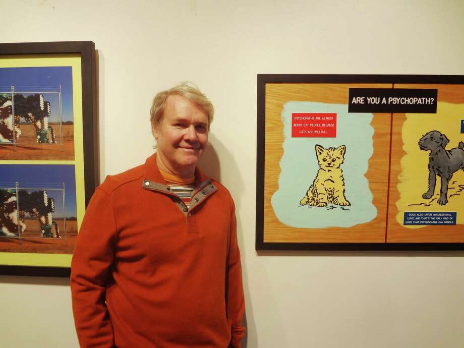 "Gary Sweeney makes serious art that pokes fun at the ""seriousness"" of the art world. His ""A Forty-Year Overview (1973-2003)"" is at Blue Star Contemporary Art Museum. Photo: Steve Bennett / San Antonio Express-News"