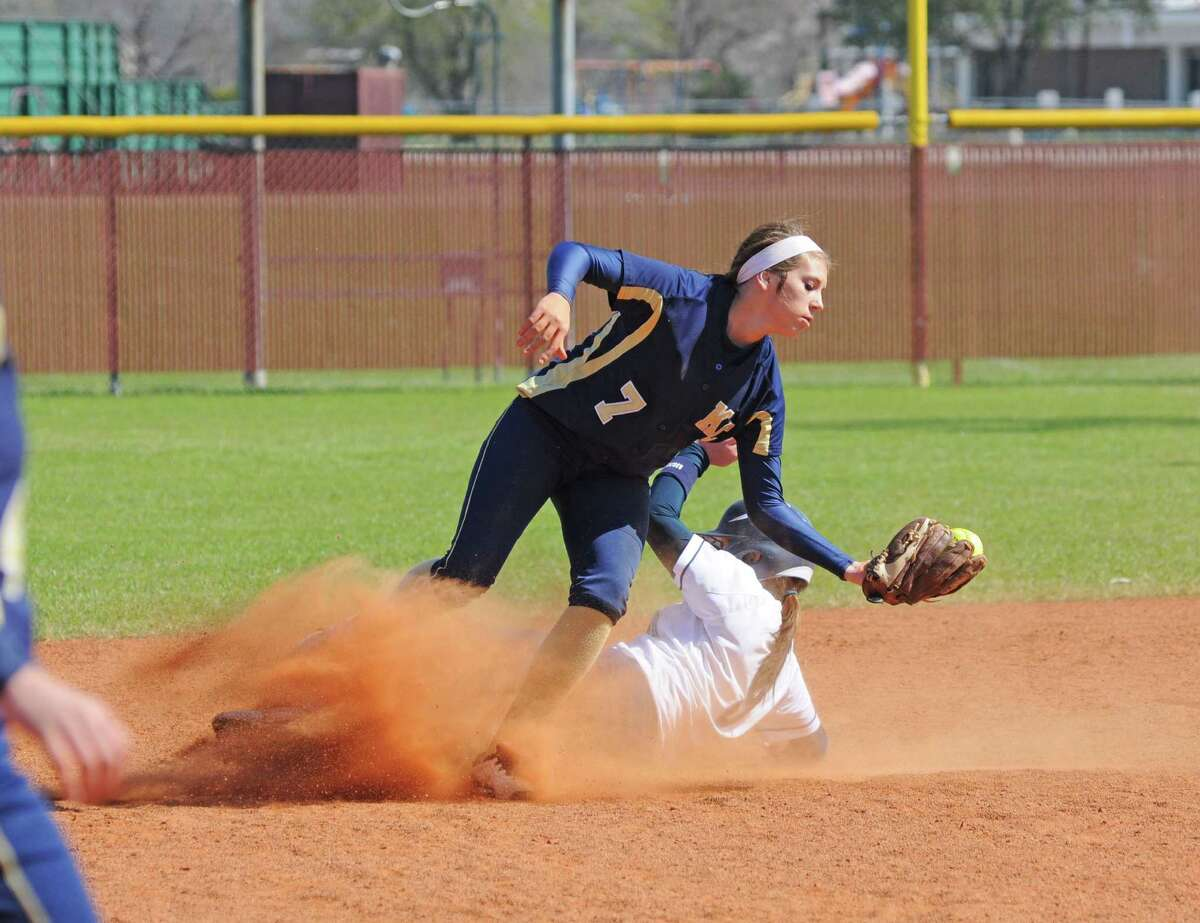 Klein Collins softball junior second baseman Paeton Tanley (7) is one of several new starters for the Lady Tigers in 2013.