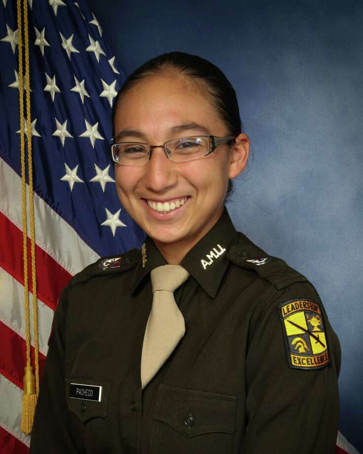 Amy Pacheco, 18, was a freshman at Texas A&M University.  She was in the Corps of Cadets before she died in a fiery crash on  Highway 290 early in the morning on March 3 as she was returning to College  Station from a weekend in Houston. Photo: Texas A&M Corps