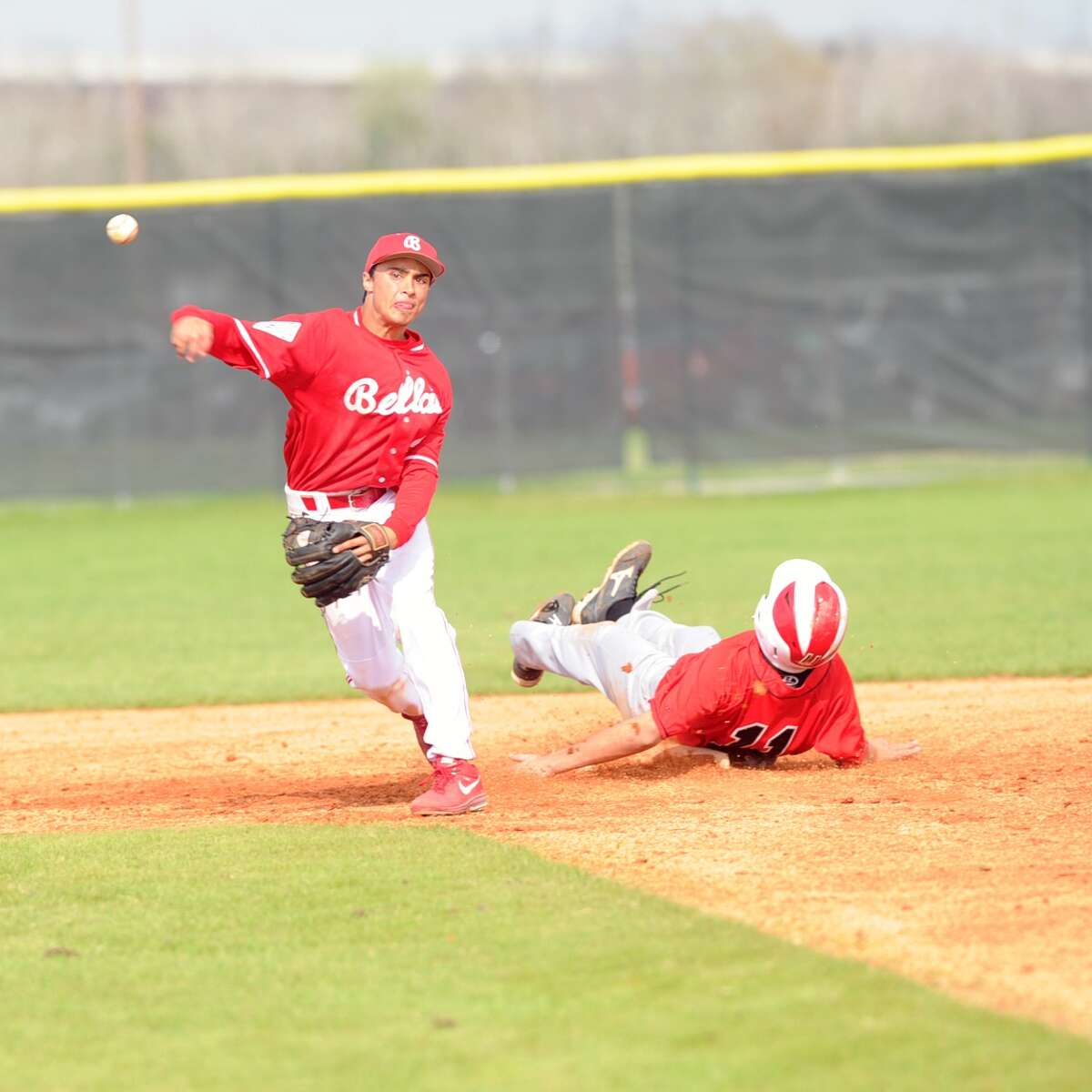 Bellaire defeated Furr to win the 45th Annual Ray Knoblauch Baseball Tournament, 8-0. Bellaire went undefeated in the tournament. Bellaire infielder Michael Page (2) gets the force out on Furr's Osvaldo Benavides (11) at second base.