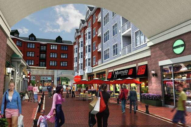 A rendering of a mixed-use project that has started construction in Norwalk, which has the potential to attract 2,000 residents, as well as retailers to fill more than 90,000 square feet of retail and restaurant space. Photo: Contributed Photo