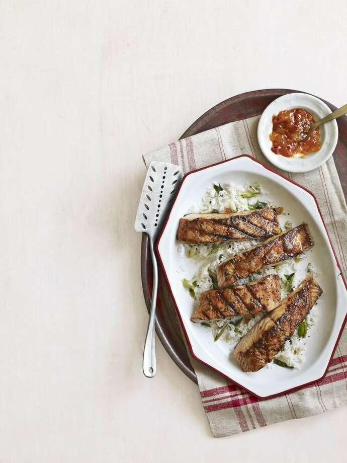 Country Living recipe for Spicy Glazed Salmon. Photo: Kana Okada