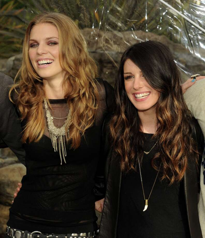 Actresses AnnaLynne McCord (L) and Shenae Grimes pose at the CW Network's 90210 Season 5 Wrap Party on March 3, 2013 in Los Angeles, California. Photo: Kevin Winter, Getty Images / 2013 Getty Images