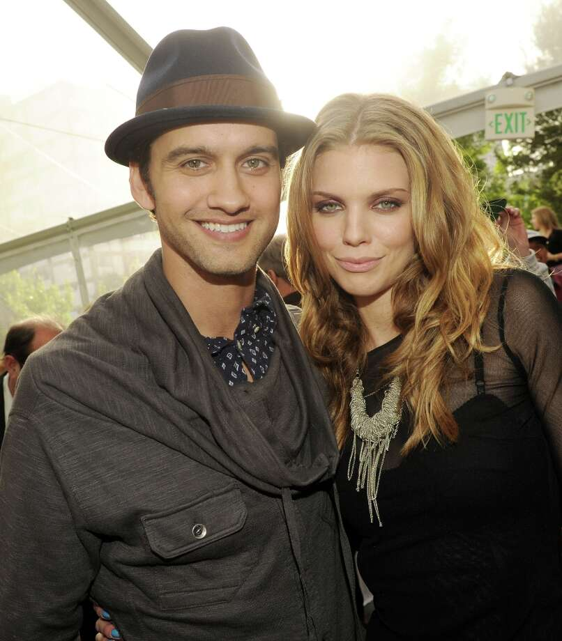 Actors Michael Steger (L) and AnnaLynne McCord pose at the CW Network's 90210 Season 5 Wrap Party on March 3, 2013 in Los Angeles, California. Photo: Kevin Winter, Getty Images / 2013 Getty Images