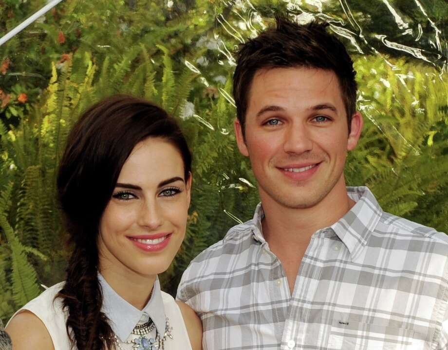 Actors Jessica Lowndes (L) and Matt Lanter pose at the CW Network's 90210 Season 5 Wrap Party on March 3, 2013 in Los Angeles, California. Photo: Kevin Winter, Getty Images / 2013 Getty Images