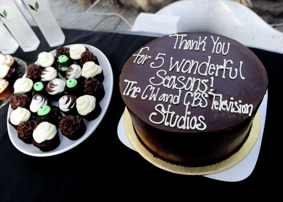 The cast and crews cake is shown at the CW Network's 90210 Season 5 Wrap Party on March 3, 2013 in Los Angeles, California. Photo: Kevin Winter, Getty Images / 2013 Getty Images