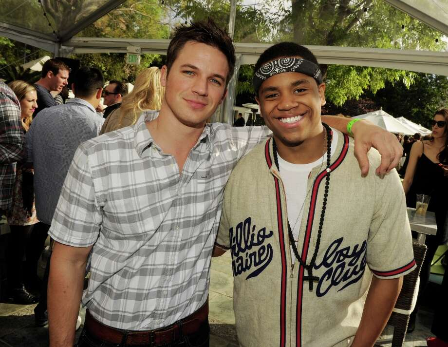 Actors Matt Lanter (L) and Tristan Wilds pose at the CW Network's 90210 Season 5 Wrap Party on March 3, 2013 in Los Angeles, California. Photo: Kevin Winter, Getty Images / 2013 Getty Images