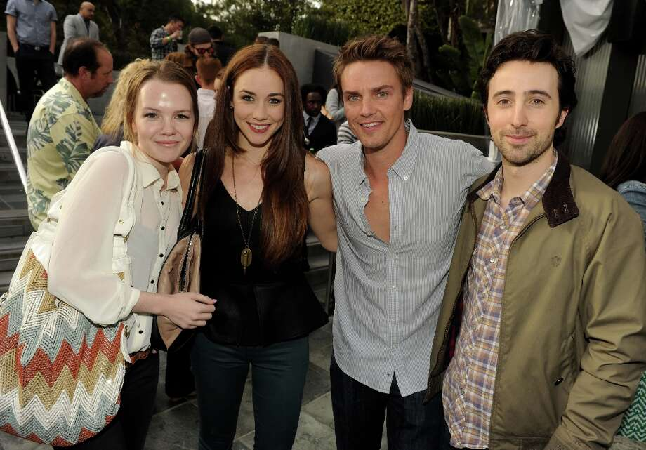 (L-R) Actors Abbie Cobb, Lyndon Smith, Riley Smith and Josh Zuckerman pose at the CW Network's 90210 Season 5 Wrap Party on March 3, 2013 in Los Angeles, California. Photo: Kevin Winter, Getty Images / 2013 Getty Images
