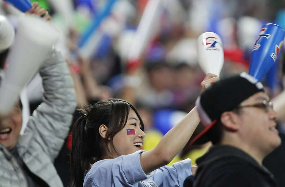 The Taiwan fans are into the World Baseball Classic, but attendance has lagged in Japan. Photo: Chung Sung-Jun, Getty Images