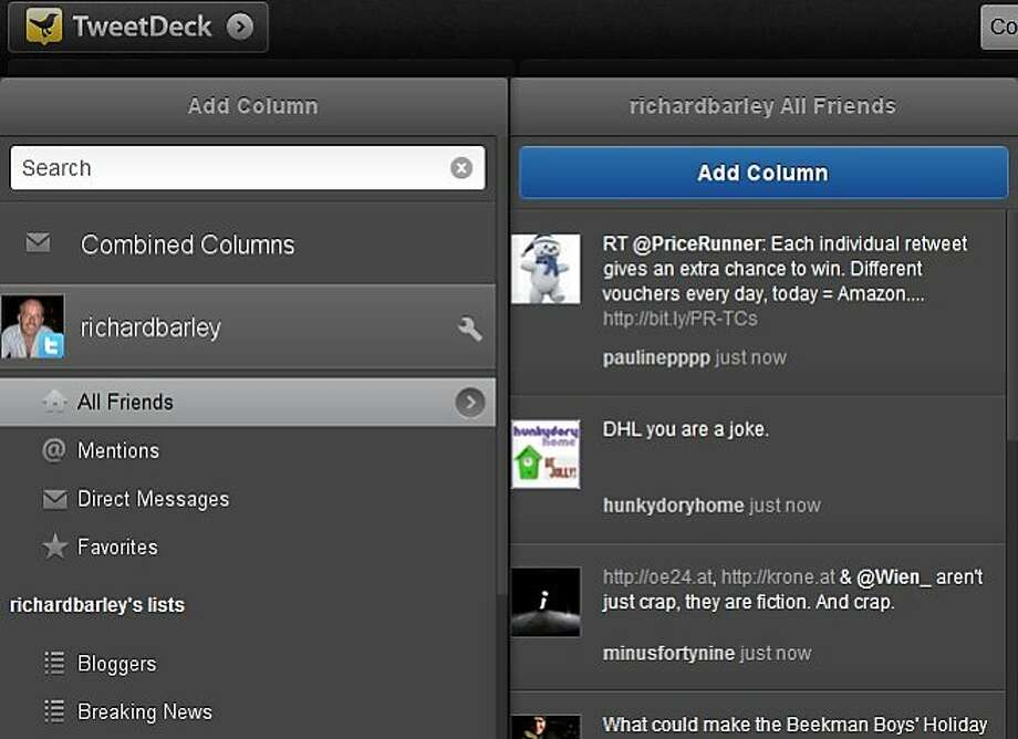 Twitter said TweetDeck is evolving to a higher level as it focuses on its Web and Chrome apps. Photo: Tweedeck